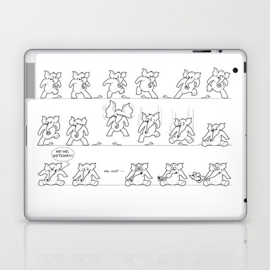 Elephant versus Mouse Laptop & iPad Skin