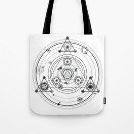 Sacred geometry and geometric alchemy design Tote Bag