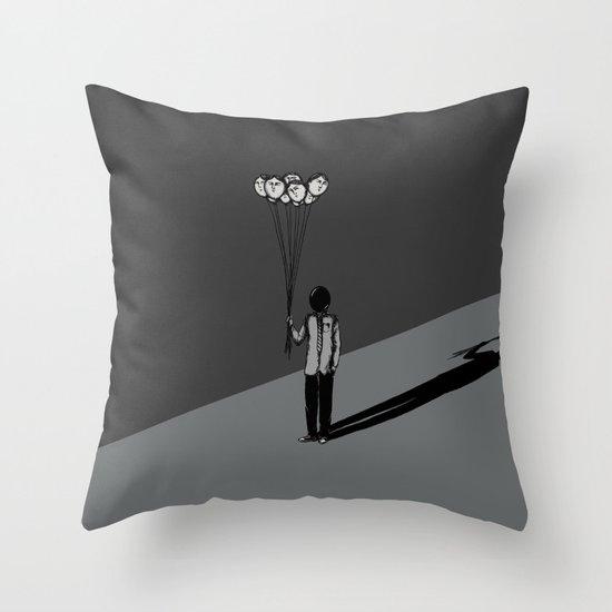 The Black Balloon Throw Pillow