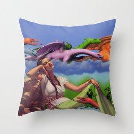 Dragon Dreamer Throw Pillow