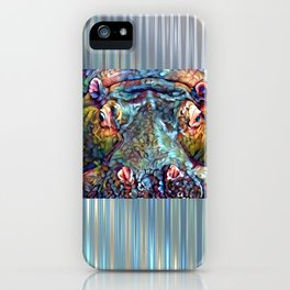 Whimsical Hippo iPhone Case