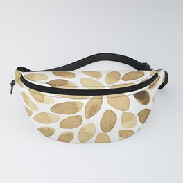 Watercolor brush strokes - neutral Fanny Pack