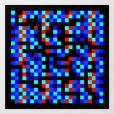 pixel labyrinth Art Print