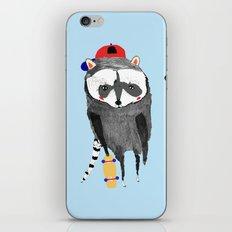 The skateboarders. skateboard print - skating - animal art. iPhone & iPod Skin