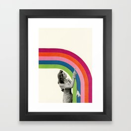 Paint a Rainbow Framed Art Print