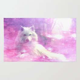 Majestic Wolf Pink Rug