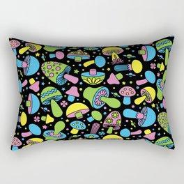 Shroomin Blacklight Rectangular Pillow