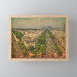 Avenue De Champs Elysees in Paris Framed Mini Art Print