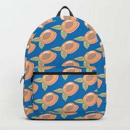 Half A Peach on Blue Backpack