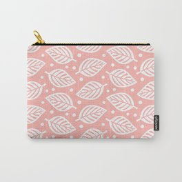 Mid Century Modern Falling Leaves Peach 2 Carry-All Pouch