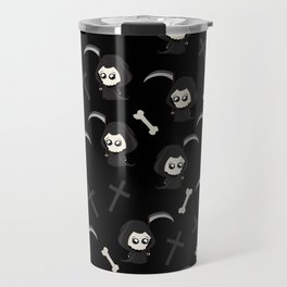 Cute Grim Reaper Pattern Travel Mug