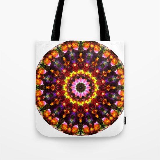 Pansy Kaleidoscope Tote Bag