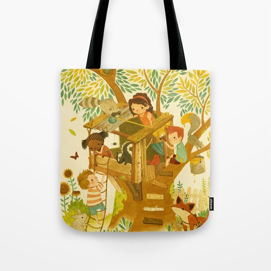 Our House In the Woods Tote Bag