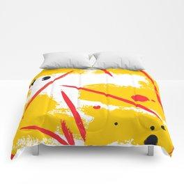Yellow fantasy Comforters