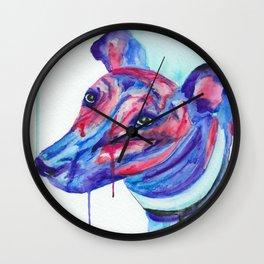 Watercolour Greyhound Wall Clock