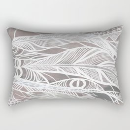 Earthy Feathers Rectangular Pillow
