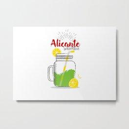 Alicante: Summer, sun, sea & smoothies Metal Print