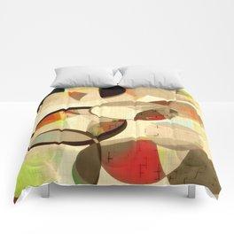 Mod art, circle art, Mid Century Modern Comforters