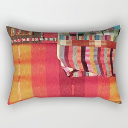V27 Multi Colored Traditional Moroccan Lovely Textile Texture. Rectangular Pillow