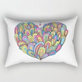 Swirlies in Colour Rectangular Pillow