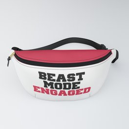 Beast Mode Engaged Gym Quote Fanny Pack