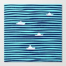 Origaboat blue Canvas Print