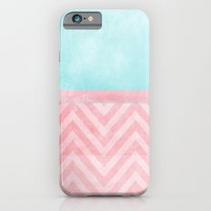 pink and turquoise chevron iPhone 6 Slim Case