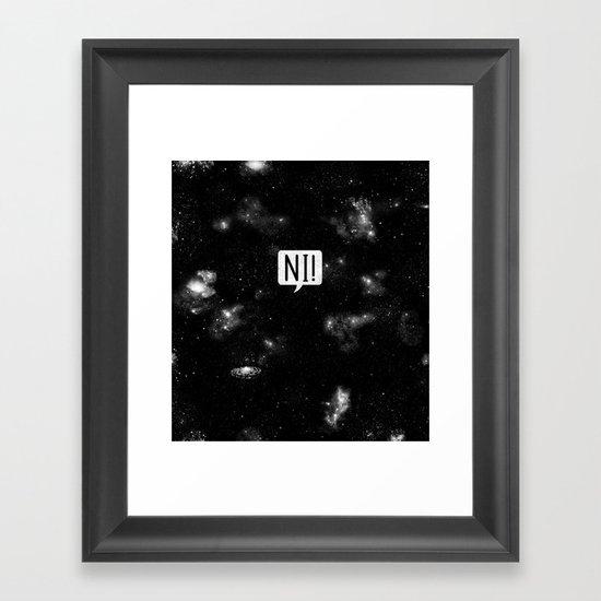 The Night Who Says Ni Framed Art Print