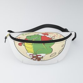 Funny Christmas Dinosaur print -perfect gift Fanny Pack
