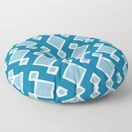 Moroccan Tiles | Mosaic Blue Floor Pillow