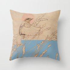 Myshkin Sparrow Throw Pillow