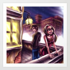 On the Rooftop Art Print