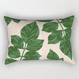 Sweet Leaf Motif on spotted peach Rectangular Pillow