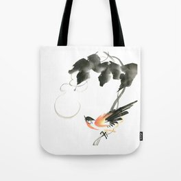 Bird 3- Chinese Shui-mo (水墨) Tote Bag