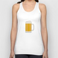 beer Tank Tops featuring Beer  by Cute to Boot