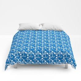 Lattice Pattern (Blue) Comforters