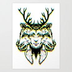GOD II Psicho Art Print