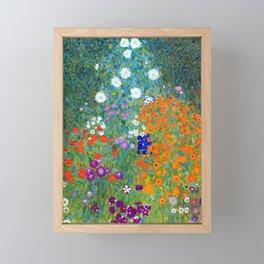 Gustav Klimt Flower Garden Framed Mini Art Print