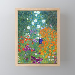 Gustav Klimt Flower Garden Framed Mini Art Print