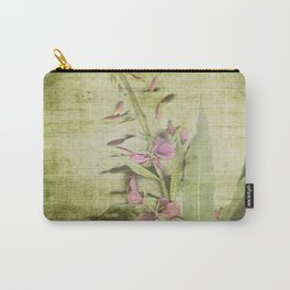 Decorative Green Floral Carry-All Pouch