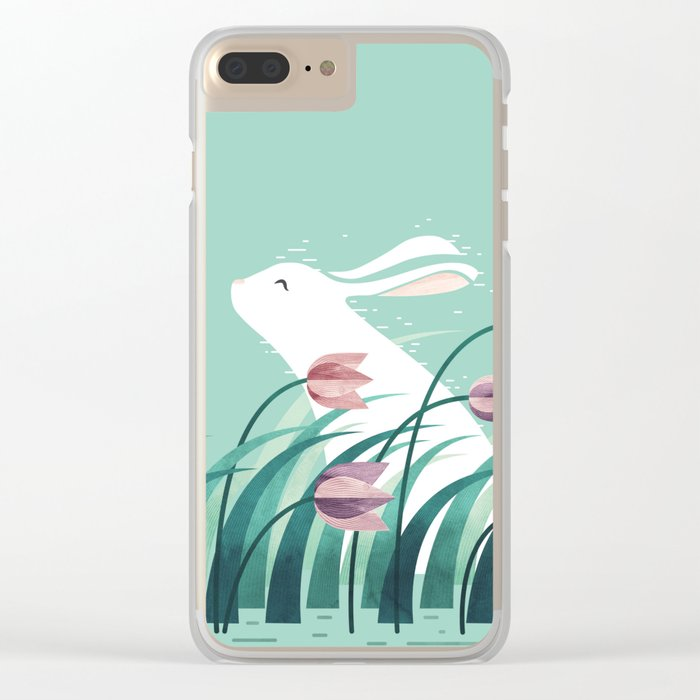 Rabbit, Resting Clear iPhone Case