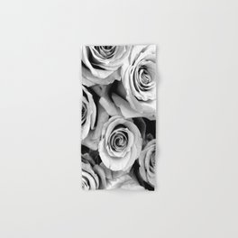 Black and White Roses Hand & Bath Towel