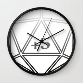 d20 Plus 5 Anything Wall Clock