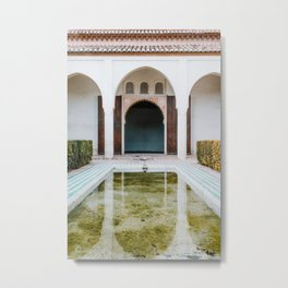 Travel Photography print 'Magical Alhambra', photo art made in Granada, Spain. Soft colors. Metal Print
