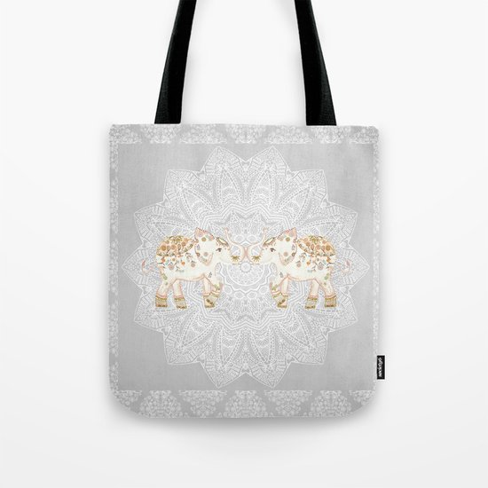 ALHAMBRA ELEPHANT GREY by Monika Strigel Tote Bag