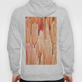 Coral Tulips Abstract Floral Pattern Hoody