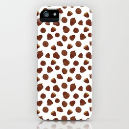Acorns on White iPhone Case