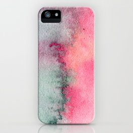 Blue and Pink Marble Watercolor iPhone Case