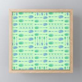 Unique Artsy Spoons! (Pale Green) Framed Mini Art Print
