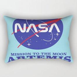 ARTEMIS NASA space art logo. Rectangular Pillow